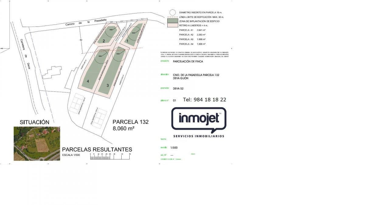 Parcela en venta en Gijon  de 1.776 m2 por 95.000 €.