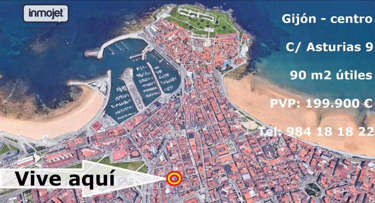 Piso en venta en Gijon  de 3 Habitaciones, 2 Baños y 100 m2 por 199.900 €.