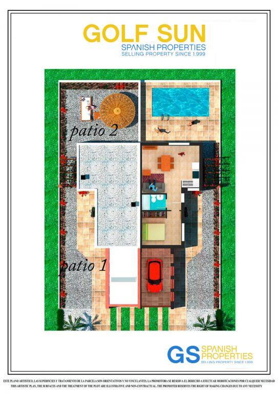 Halfvrijstaande 1 slaapkamer villas in Los Alcazares