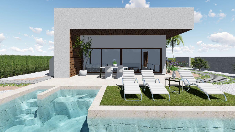 Moderne 3 slaapkamer vrijstaande villa met privézwembad