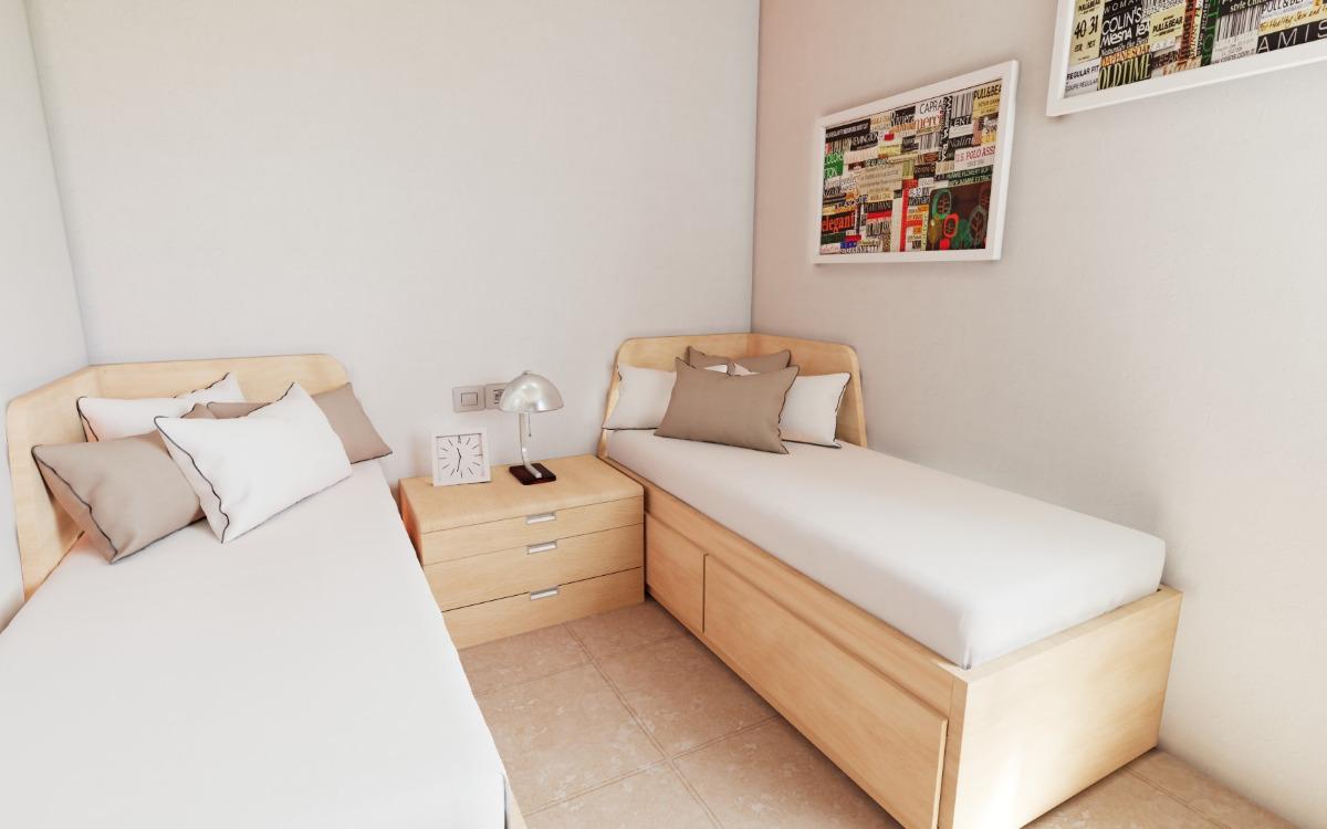 Geschakelde 2 slaapkamer villa's in Los Alcazares