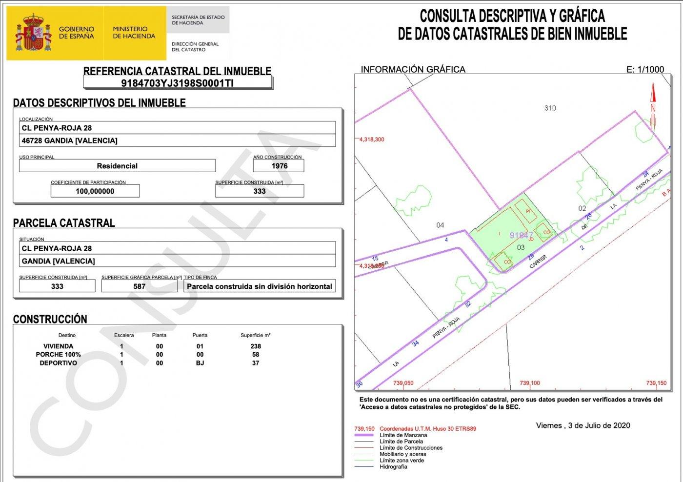 Chalet independiente en venta en calle penya-roja (de la), 28, 46728, gandia (valencia) - imagenInmueble15
