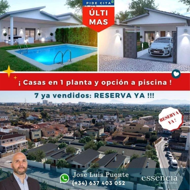 2  Últimos a la venta. casas en 1 planta con jardÍn, garaje y opciÓn a piscina propia - imagenInmueble0