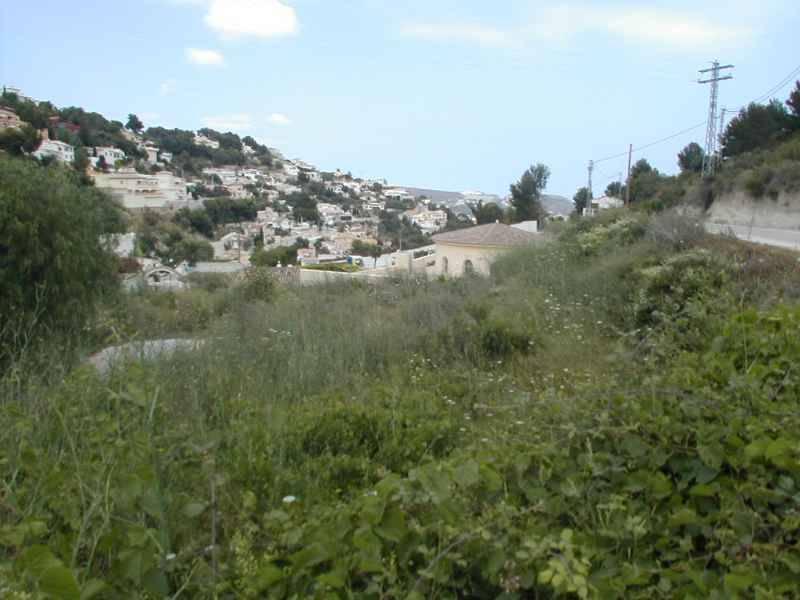 terrain en moraira · benimeit 150000€