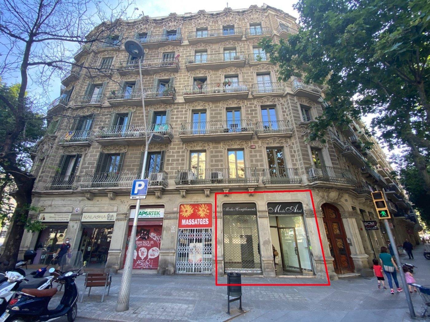local-comercial en barcelona · dreta-de-l´eixample 1390€