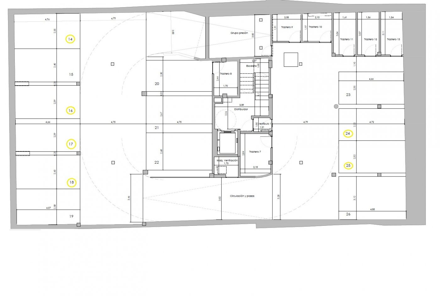 A la venta amplio garaje en sótano 2 en edificio de obra nueva en c/ predicadores. - imagenInmueble3