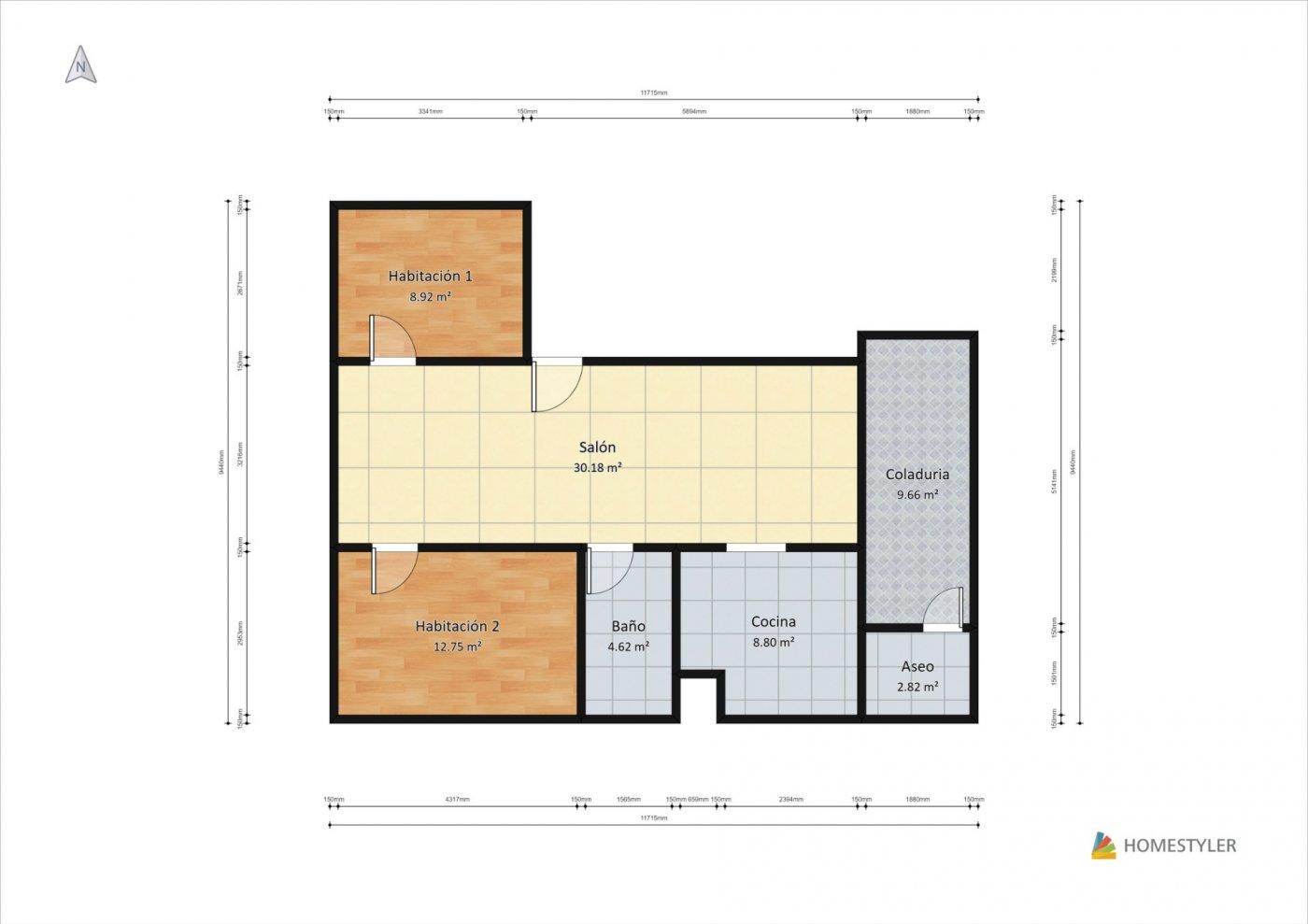 Bonito piso en centro de palma - imagenInmueble24