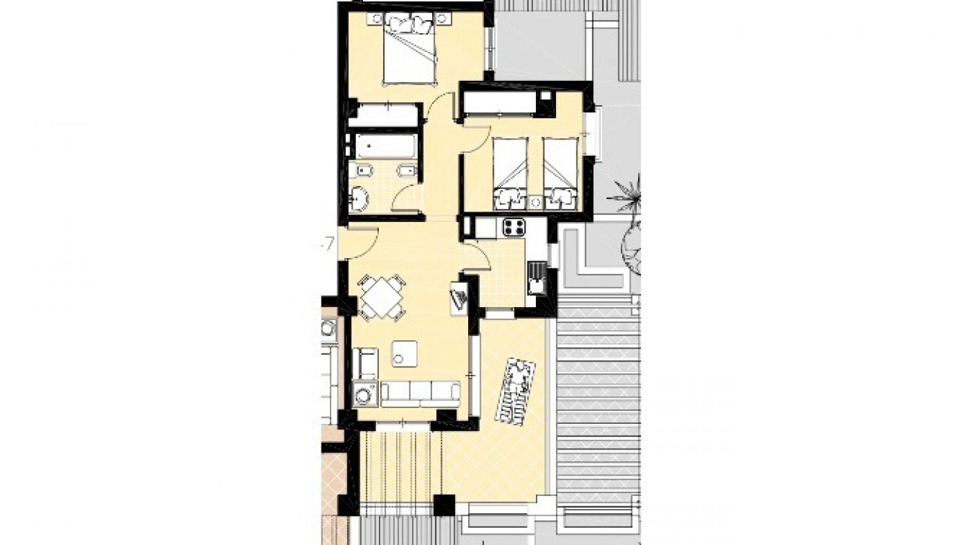 Gallery Image 20 of South facing golf and pool views, 2 bed, 1 bath low community fees.