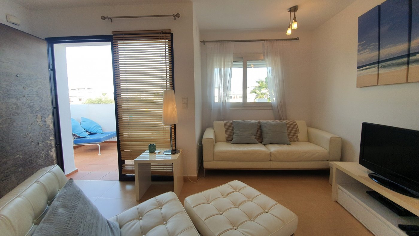 Gallery Image 16 of Immaculate 2 Bedroom Apartment with Pool Views and Roof Terrace in Jardin 9, Condado de Alhama