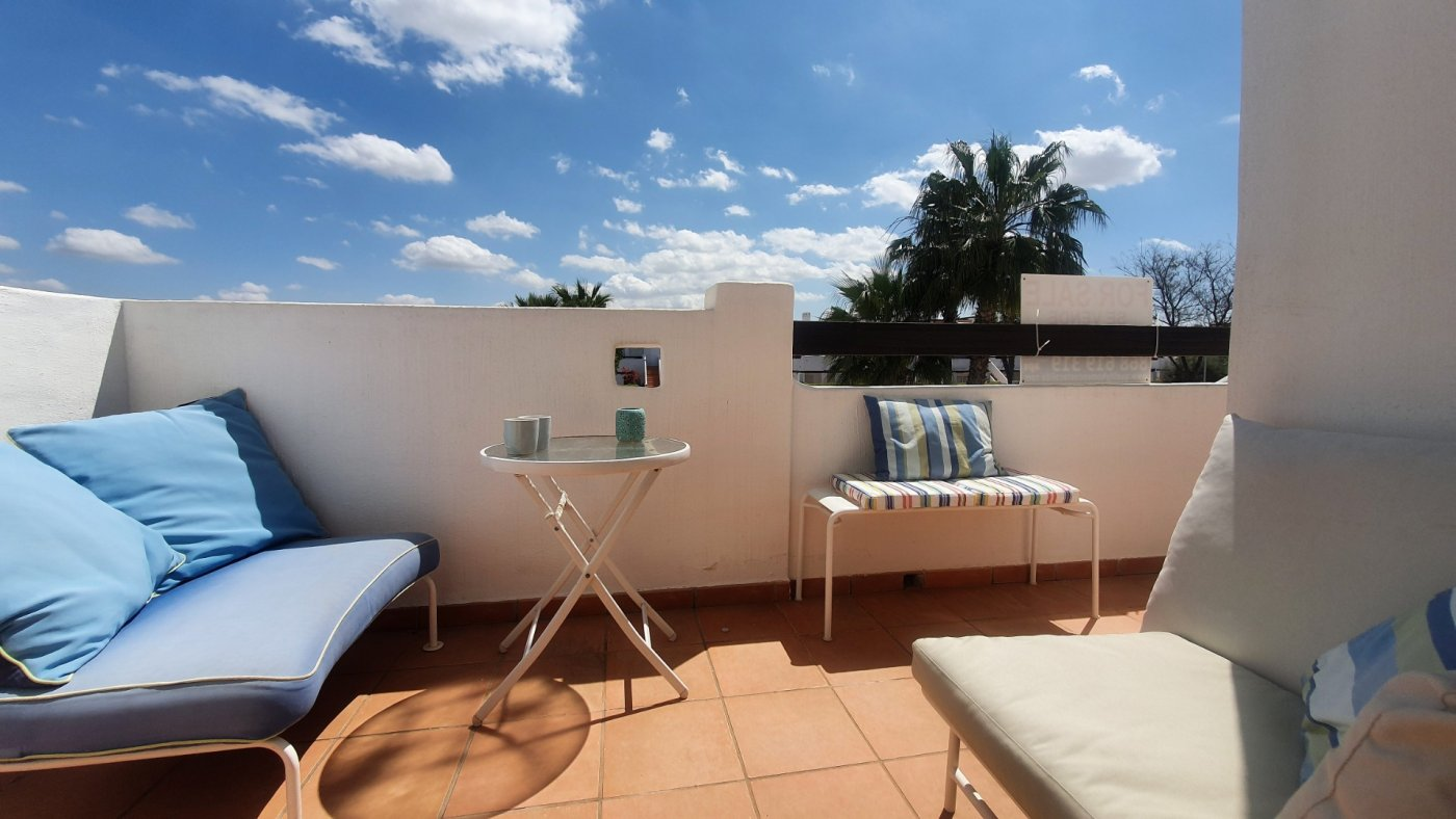 Gallery Image 17 of Immaculate 2 Bedroom Apartment with Pool Views and Roof Terrace in Jardin 9, Condado de Alhama