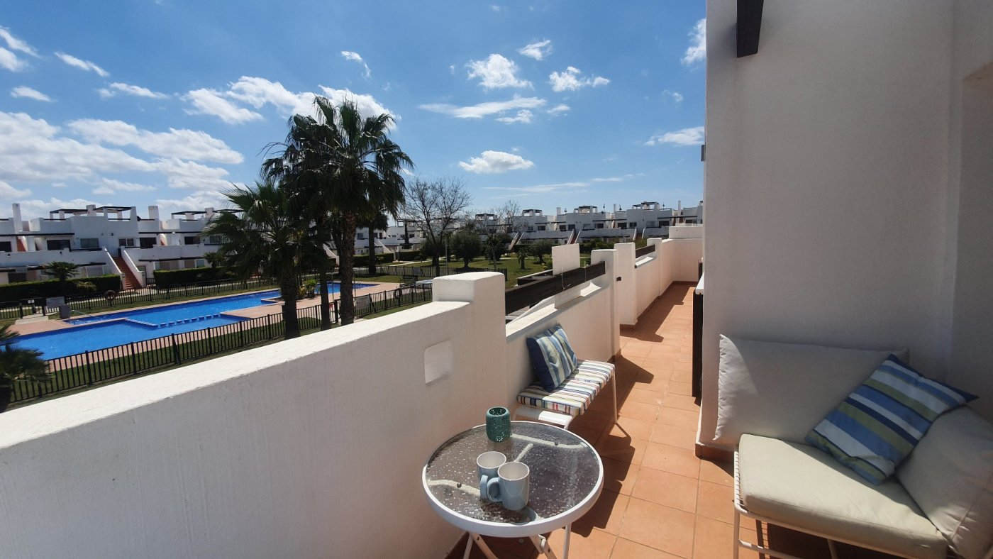 Gallery Image 28 of Immaculate 2 Bedroom Apartment with Pool Views and Roof Terrace in Jardin 9, Condado de Alhama