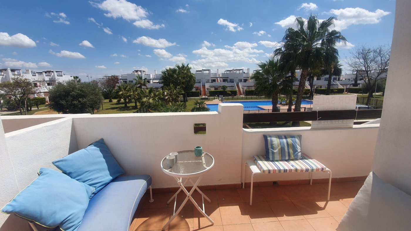 Gallery Image 2 of Immaculate 2 Bedroom Apartment with Pool Views and Roof Terrace in Jardin 9, Condado de Alhama