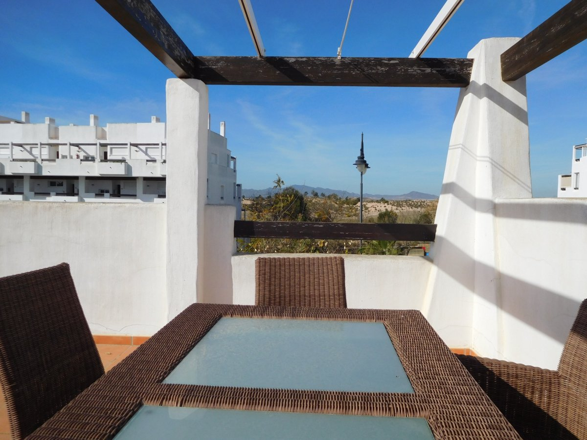 Gallery Image 1 of 2 bedroom corner apartment with ample private roof terrace, on Naranjos 2