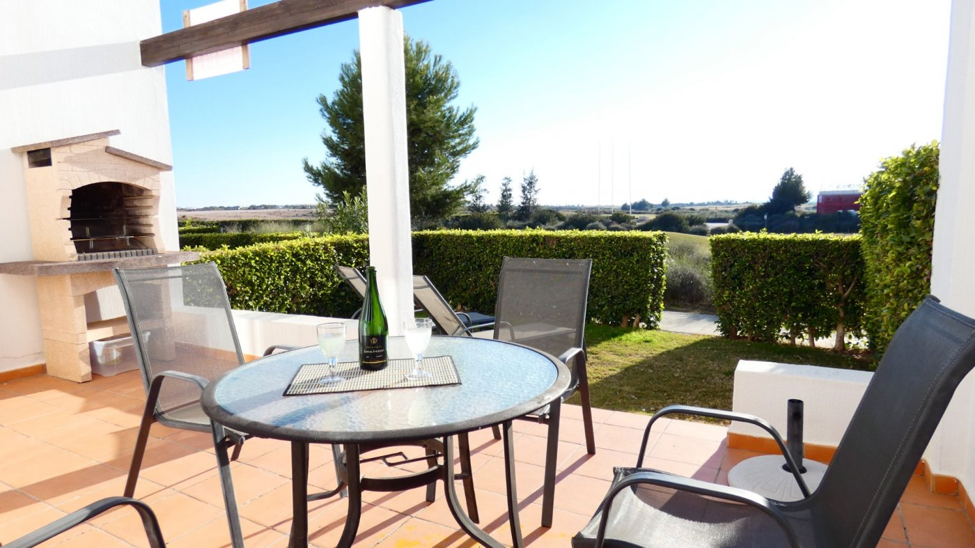 Gallery Image 1 of NEW ON THE MARKET! Front line golf ground floor apartment at Condado de Alhama for sale