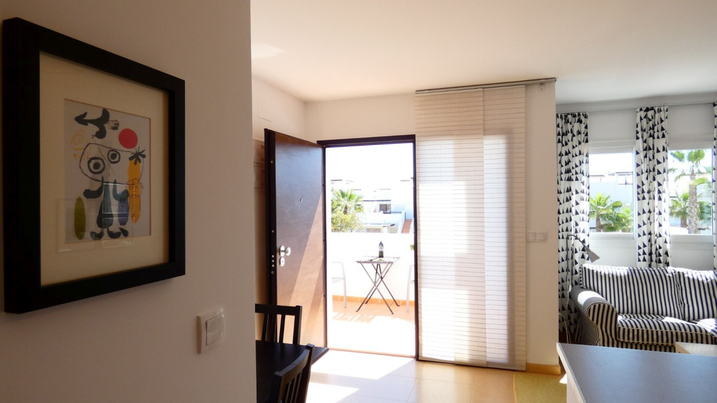 Gallery Image 1 of Immaculate 2 Bedroom Apartment with Pool Views and Roof Terrace in Jardin 11, Condado de Alhama