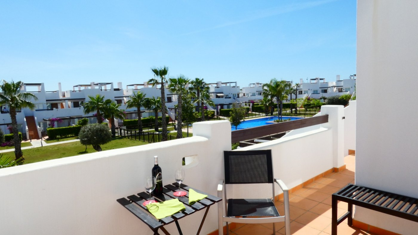 Gallery Image 23 of Immaculate 2 Bedroom Apartment with Pool Views and Roof Terrace in Jardin 11, Condado de Alhama