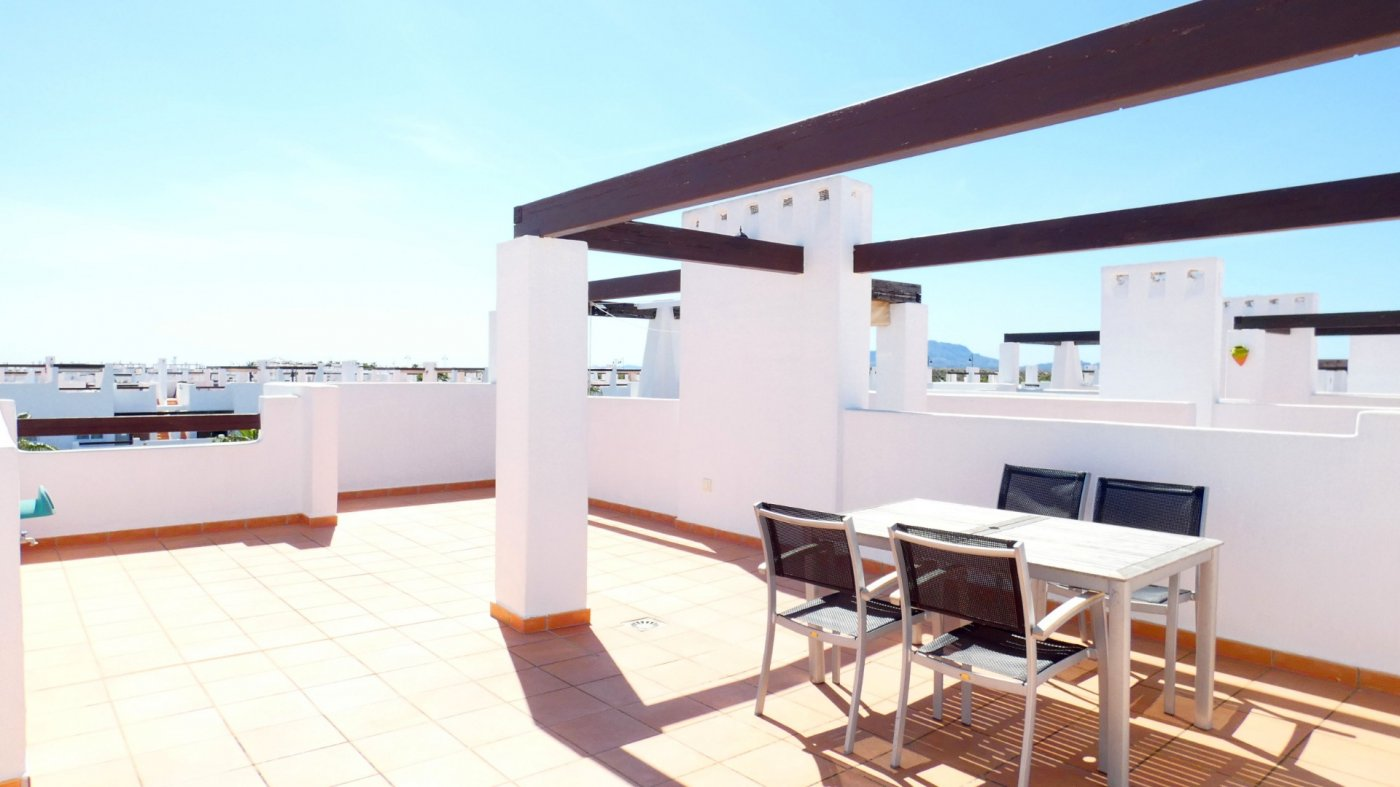 Gallery Image 28 of Immaculate 2 Bedroom Apartment with Pool Views and Roof Terrace in Jardin 11, Condado de Alhama