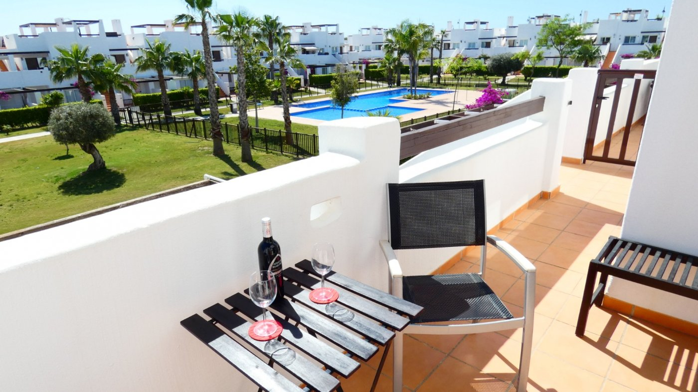 Gallery Image 2 of Immaculate 2 Bedroom Apartment with Pool Views and Roof Terrace in Jardin 11, Condado de Alhama