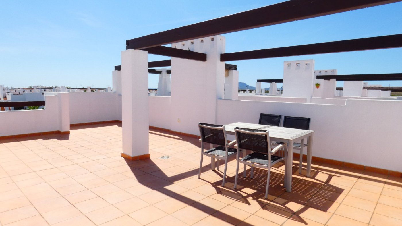 Gallery Image 7 of Immaculate 2 Bedroom Apartment with Pool Views and Roof Terrace in Jardin 11, Condado de Alhama