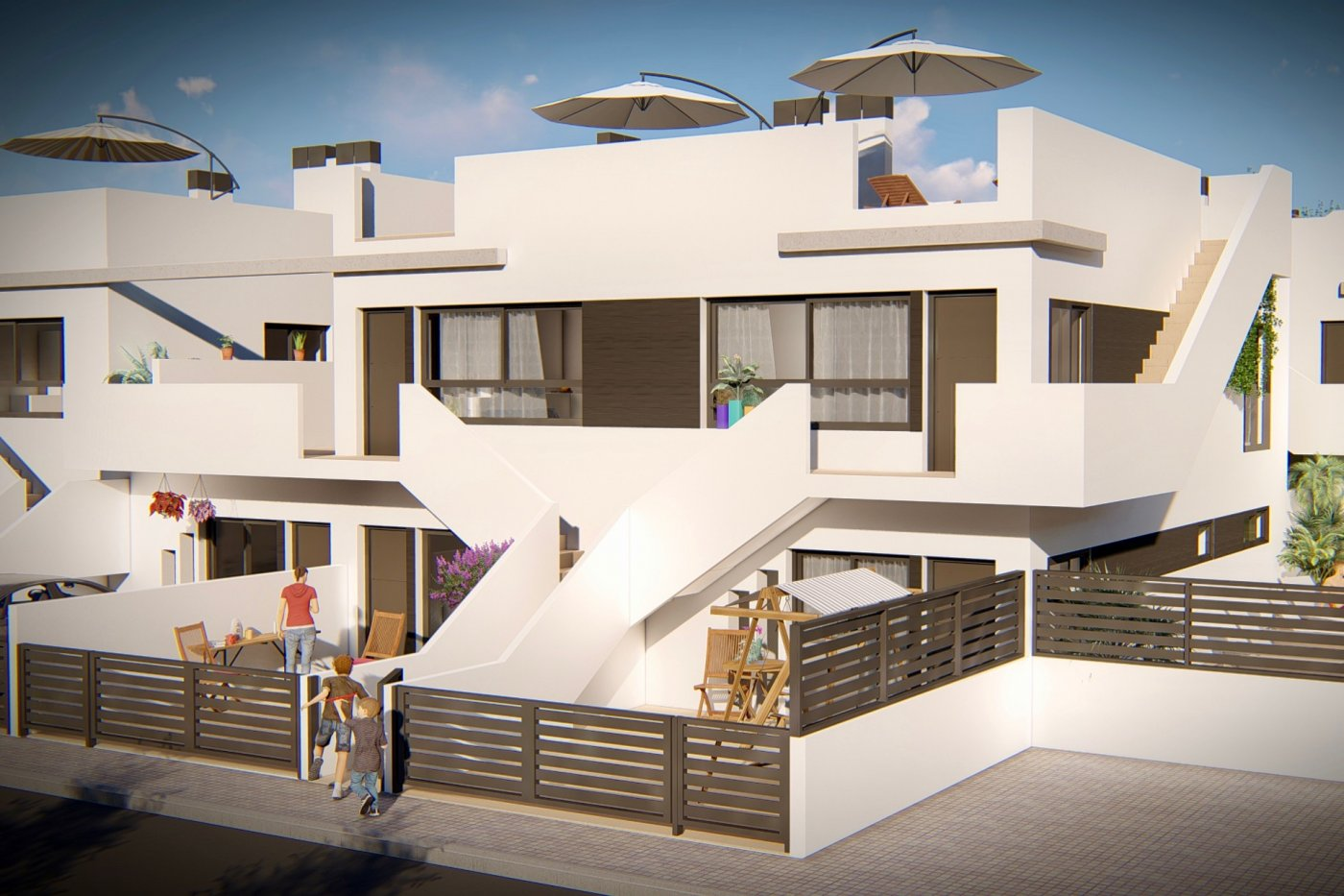 Gallery Image 1 of New build first floor apartment with 55 m2 solarium and outdoor kitchen