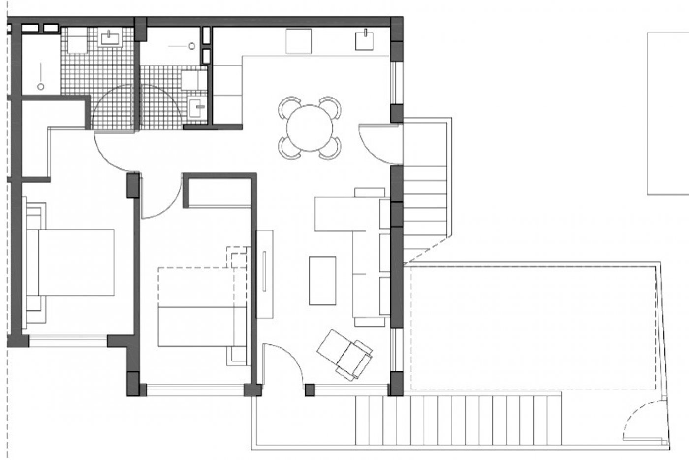 Gallery Image 2 of New build top floor apartment with 55 m2 solarium only 7 min walk from the beaches