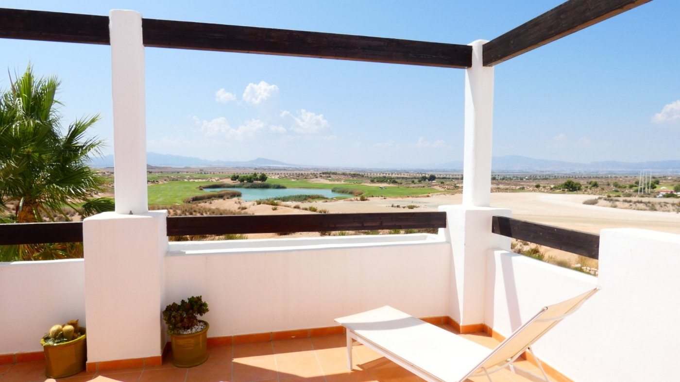 Gallery Image 1 of South-West facing Front line Golf Apartment overlooking the Fairway and Lake at Condado de Alhama