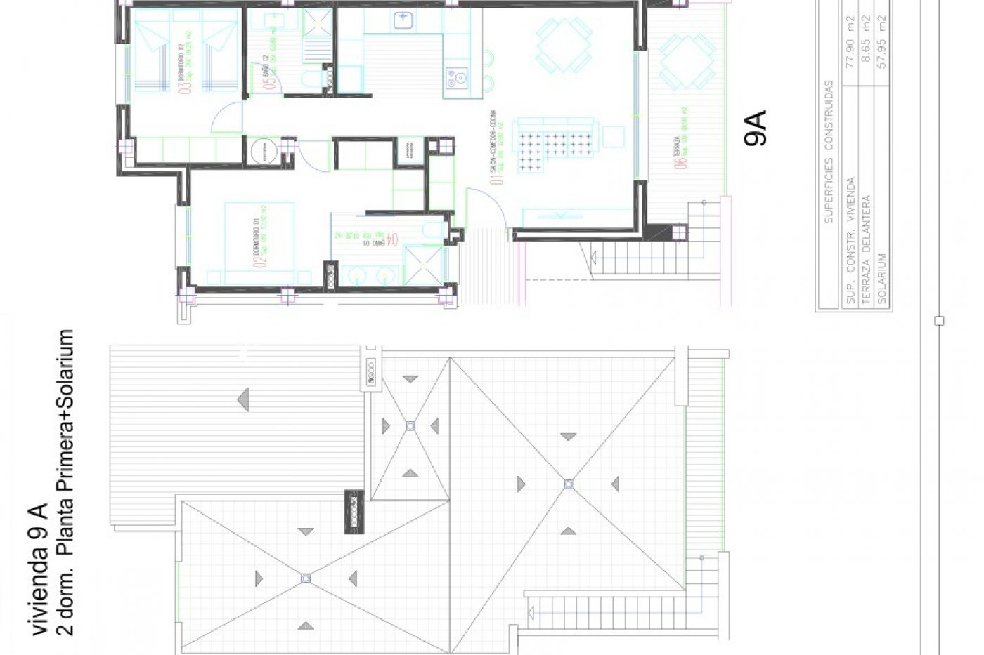 Gallery Image 1 of Lovely new build 2 bed penthouse with 2 bath and 58 m2 roof terrasse