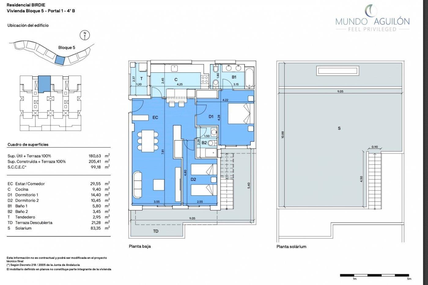 Galleribillede 1 of Sydvendt 3 værelses, 2 bad lejlighed med panorama udsigt og 83 m2 tagterrasse