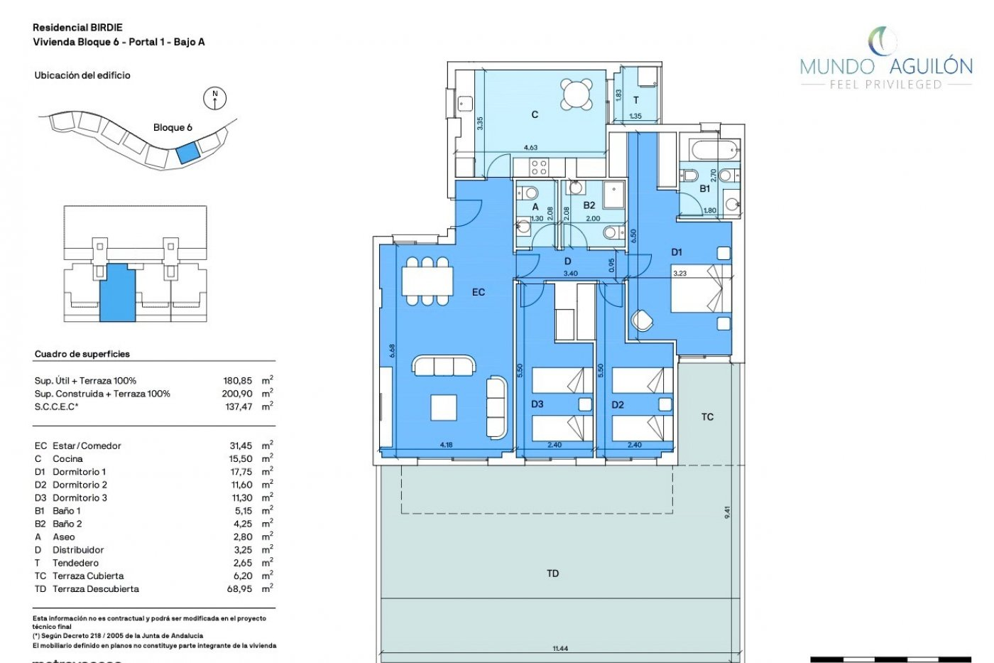 Gallery Image 1 of Big south facing 3 bed, 2 bath apartment with lovely views and 75 m2 terrassesolarium.