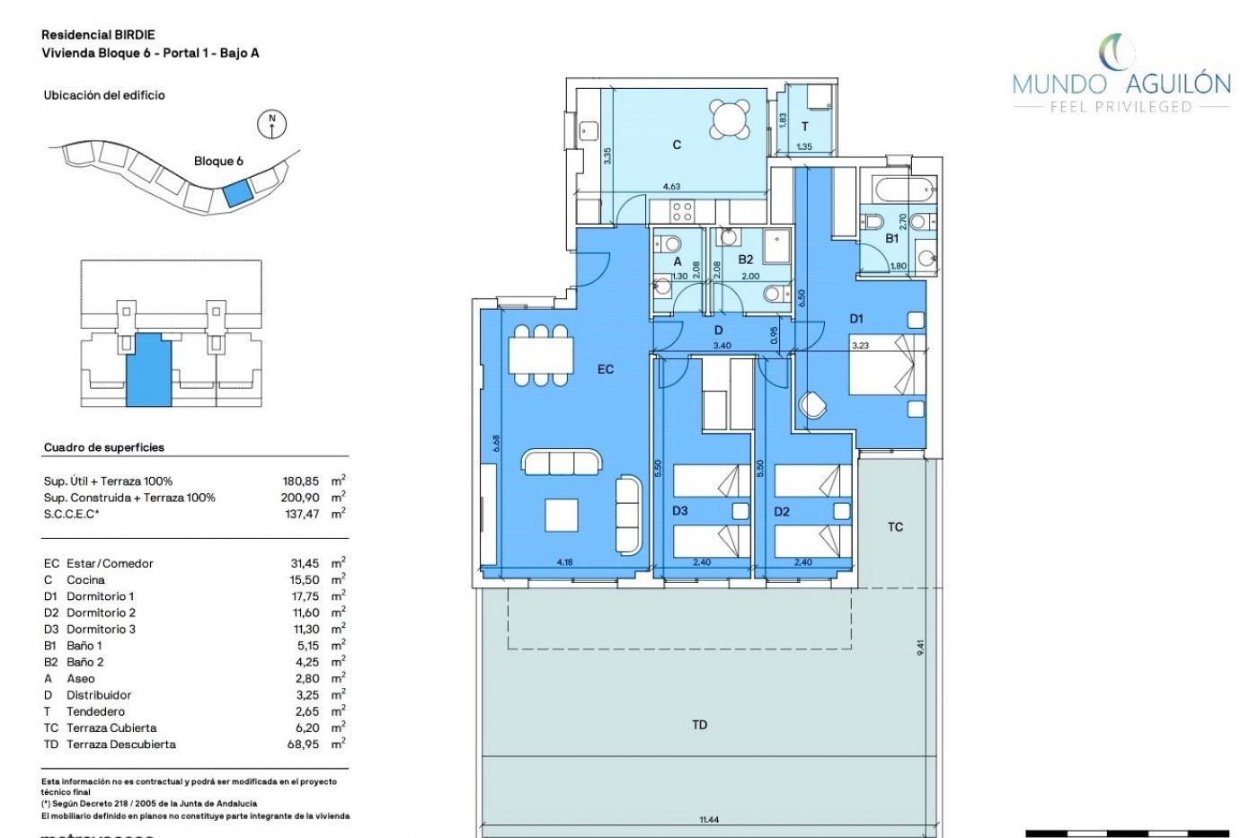 Imagen de la galería 1 of Gran apartamento orientado al sur de 3 dormitorios y 2 baños con preciosas vistas y 75 m2 de teraza