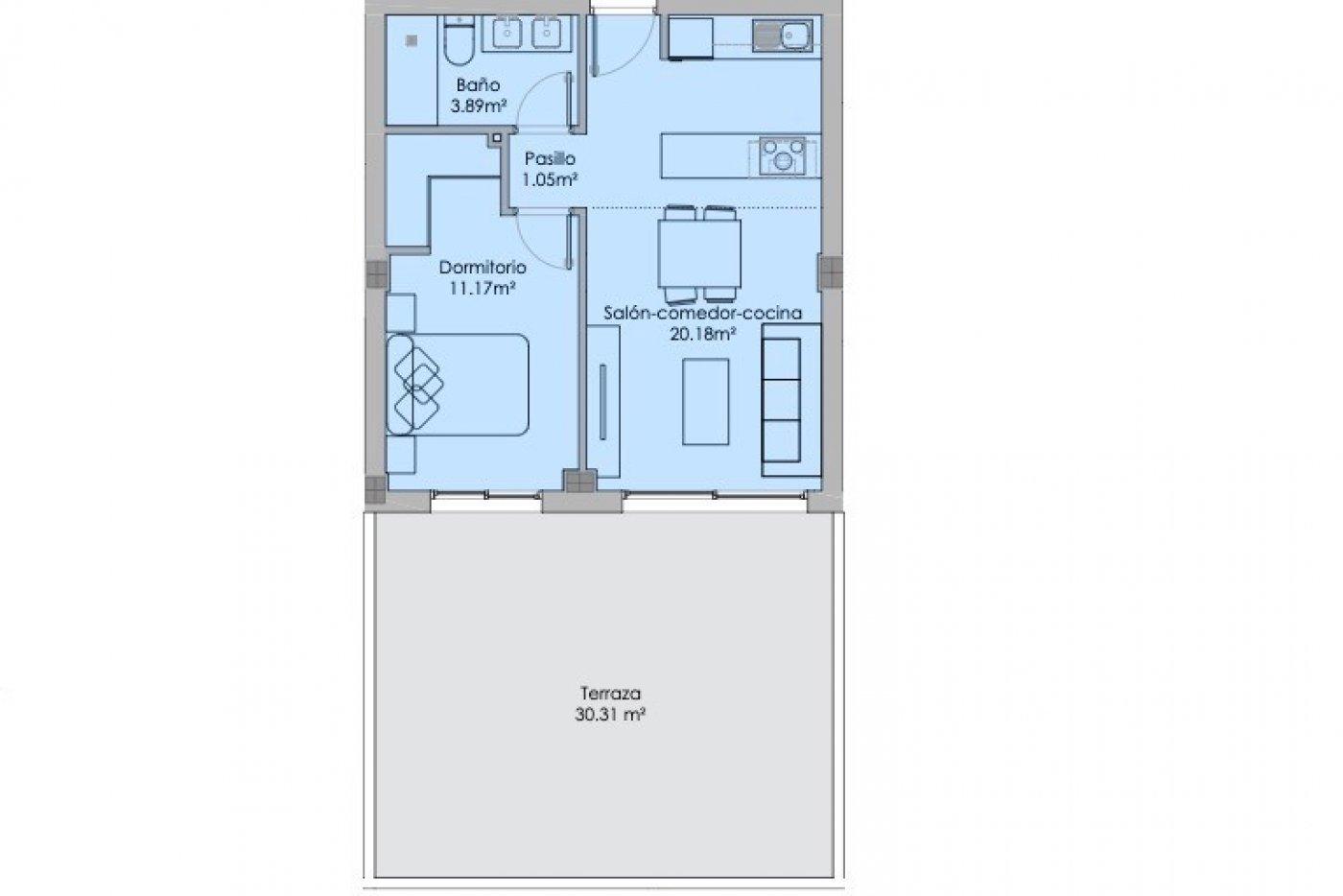 Galleribillede 1 of Fantastisk 2 værelses luksus lejlighed med 30 m2 terrasse og