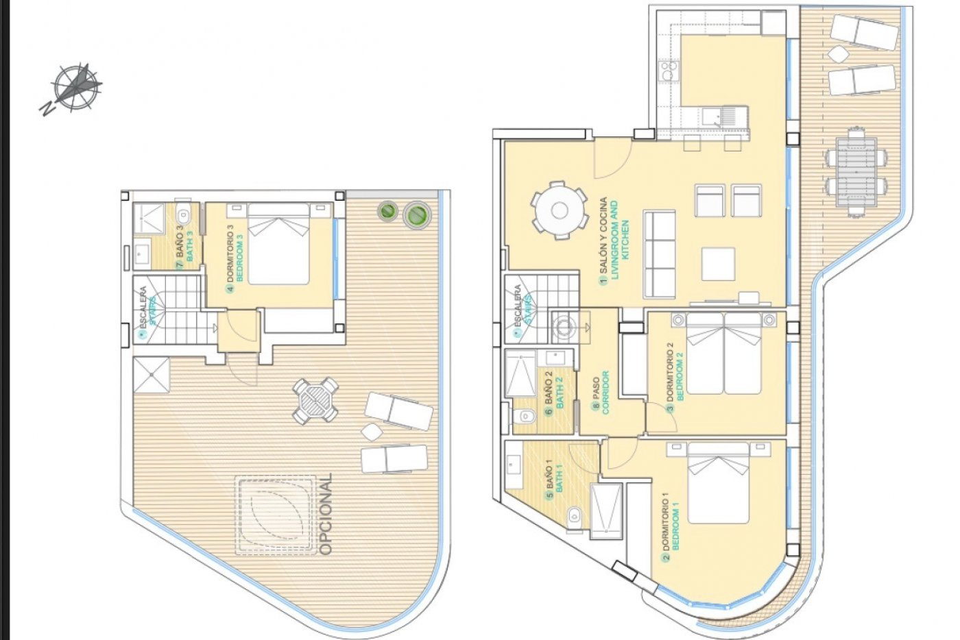Gallery Image 1 of Phenomenal 2 story southwest facing 3 bed apartment with the most fantastic panorama views