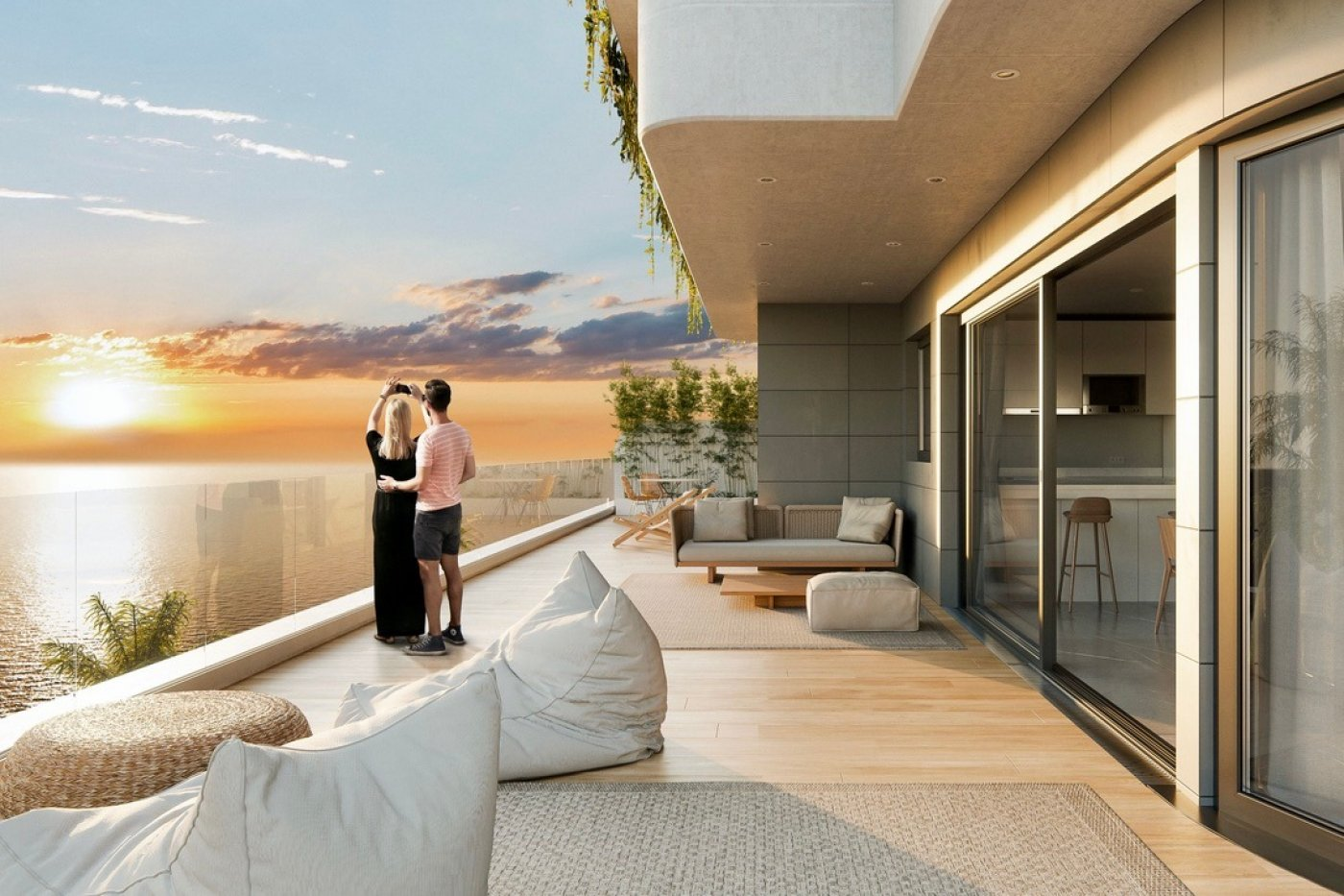 Gallery Image 4 of Phenomenal 2 story southwest facing 3 bed apartment with the most fantastic panorama views