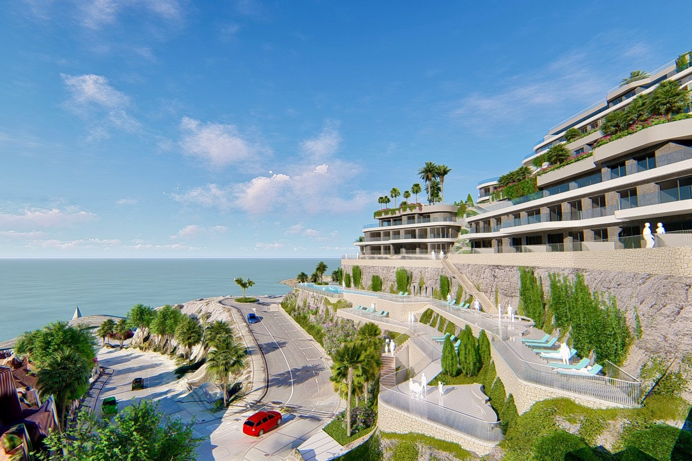 Gallery Image 1 of West facing luxury 2 bed apartment with panoramic sea views at amazing price