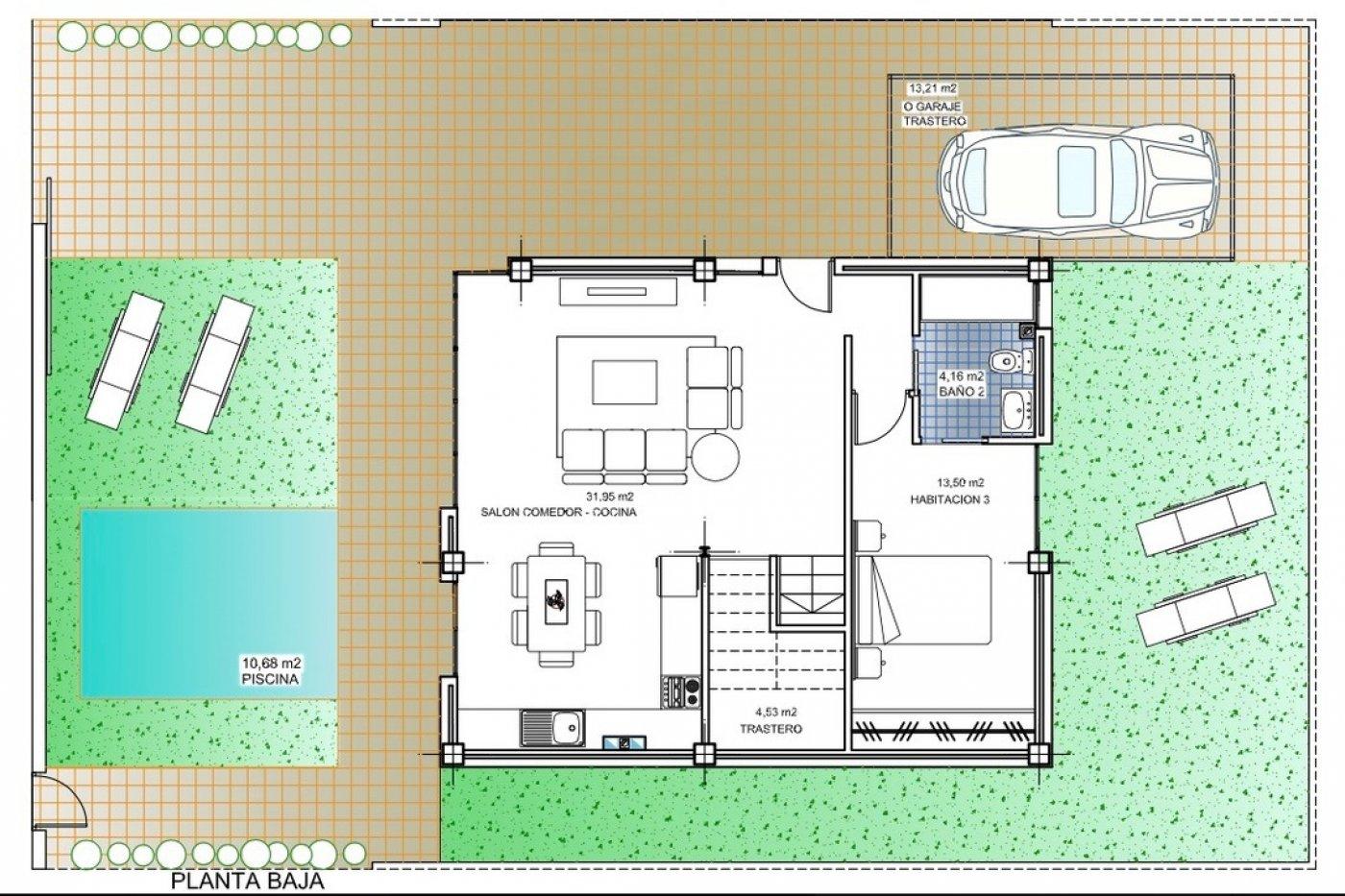 Galleribillede 2 of Super lækker nyopført villa ved strand og golf med egen pool og 25 m2 sol terrasse