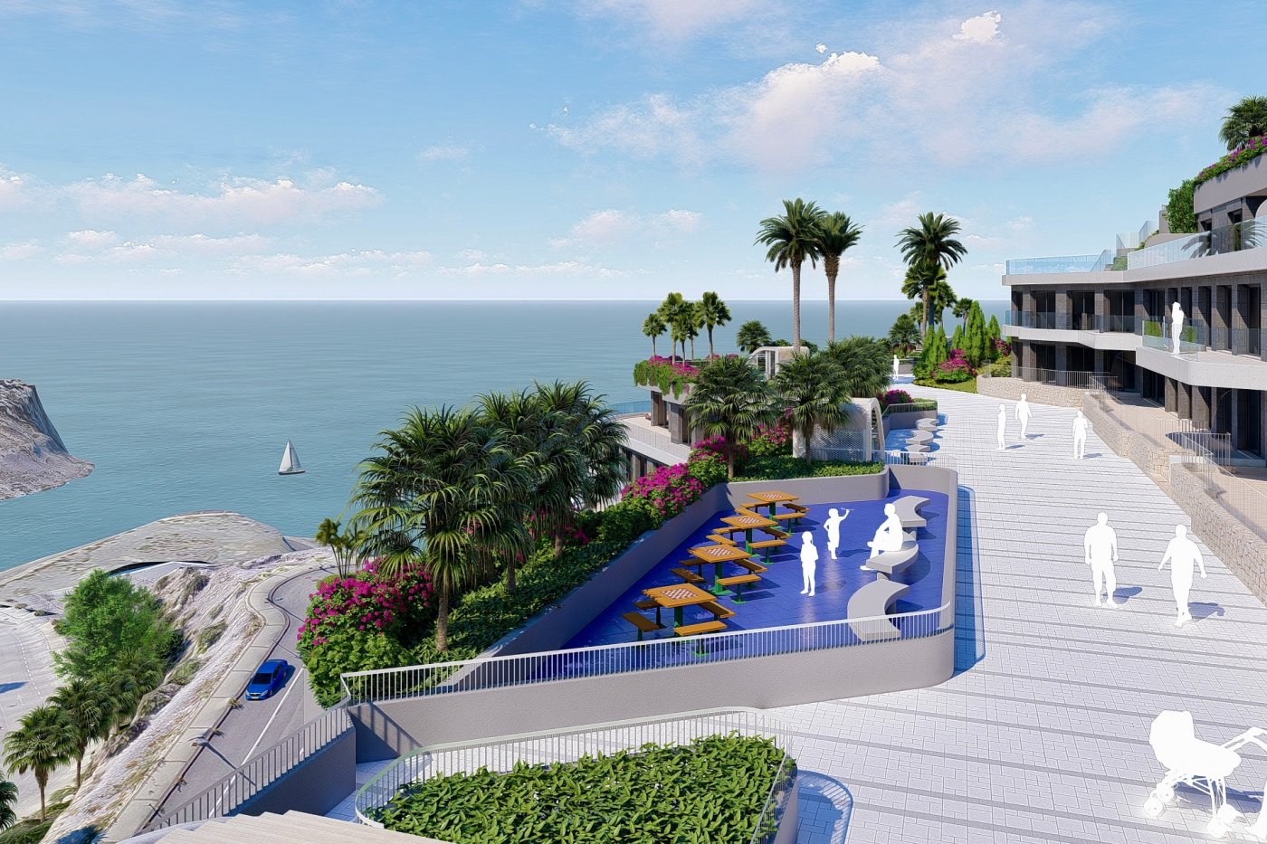 Gallery Image 13 of South-West facing luxury 2 bed apartment with panoramic sea views at amazing price