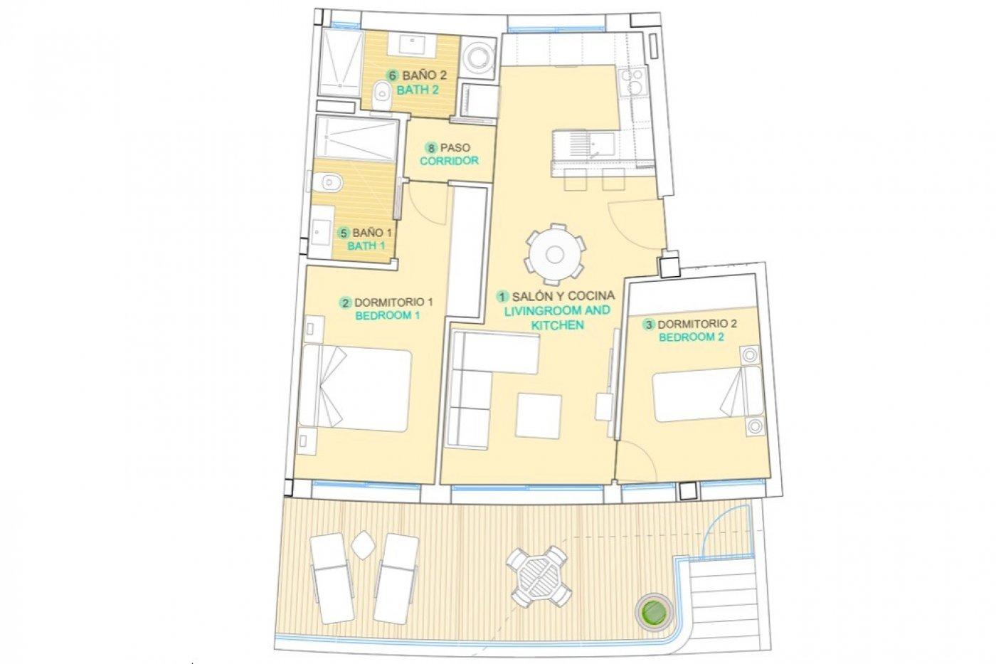 Imagen de la galería 1 of Se Vende Apartamento en Isea Calma, águilas Con Piscina