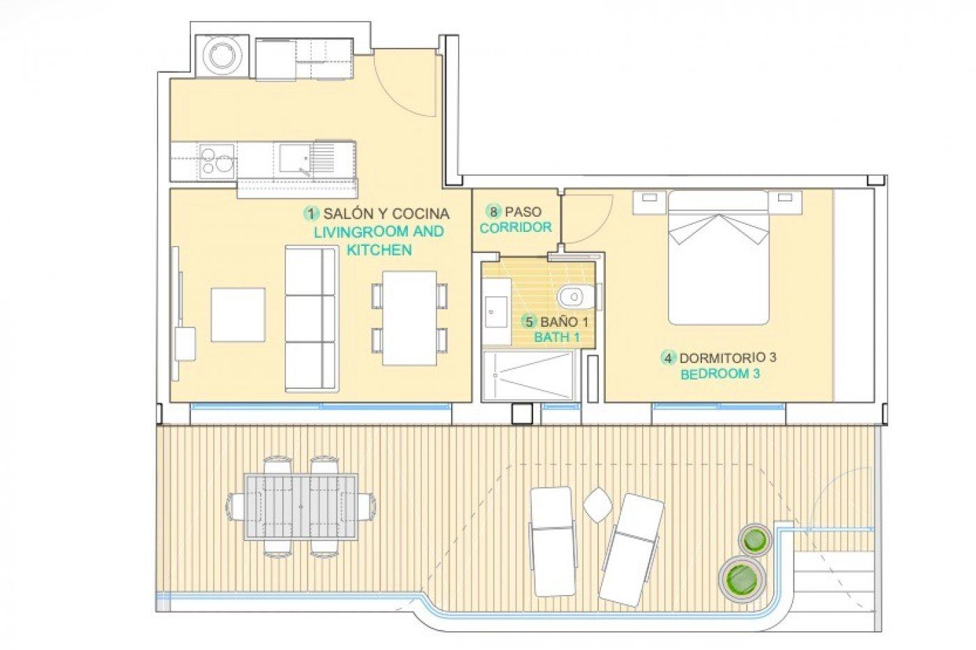 Imagen de la galería 1 of Apartamento de lujo de 2 dormitorios con impresionantes vistas desde la terraza de 32 m2
