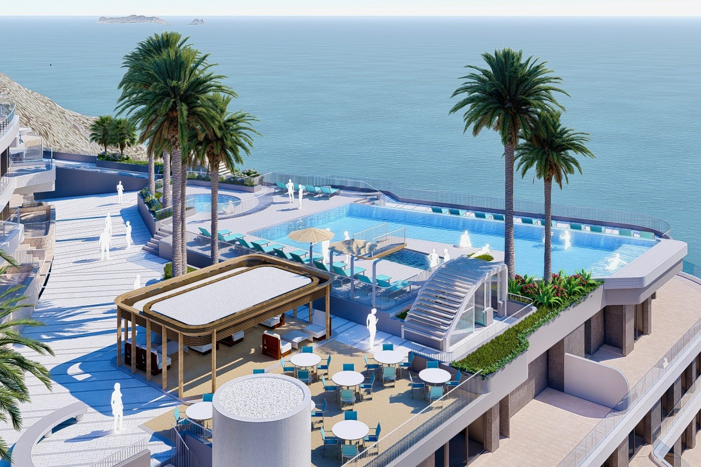 Galleribillede 11 of Vildt lækker 2 værelses luksus penthouse lejlighed med fantastisk udsigt og 59 m2 solterrasse