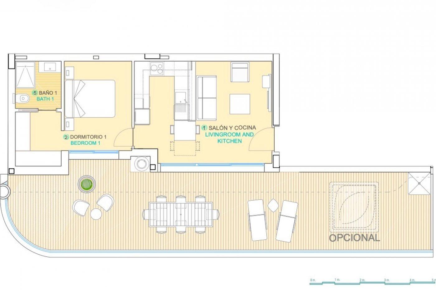 Galleribillede 1 of Vildt lækker 2 værelses luksus penthouse lejlighed med fantastisk udsigt og 59 m2 solterrasse