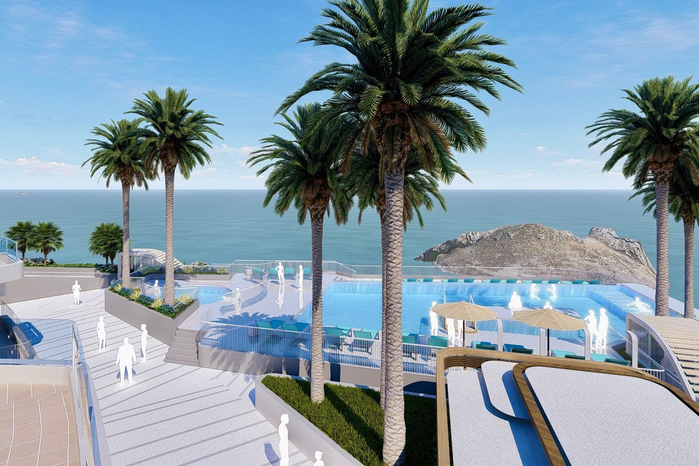 Gallery Image 15 of South-West facing luxury 2 bed apartment with panoramic sea views at amazing price