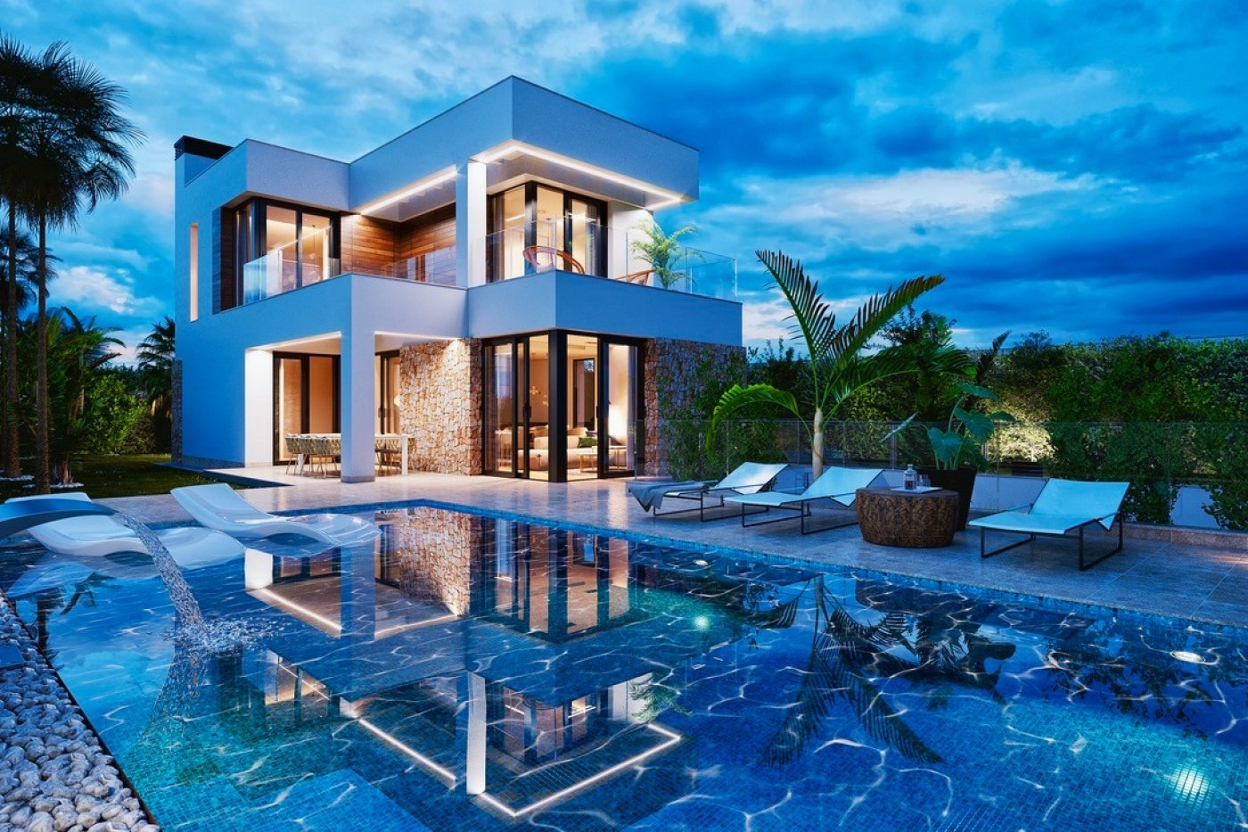 Gallery Image 14 of Luxury villa in Finestrat fantastic views over Benidorm, southwest facing - own pool, large basement