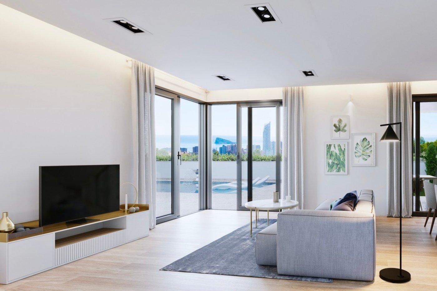 Galleribillede 1 of Luksus villa i Finestrat Hills m. udsigt over Benidorm, sydvest vendt - egen pool, kælder med garage