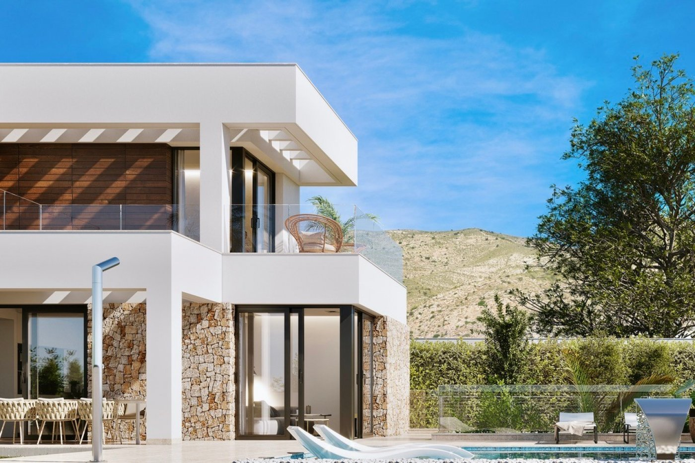 Gallery Image 13 of Large luxury villa in Finestrat with amazin over Benidorm,  3 bath, private pool. Basement