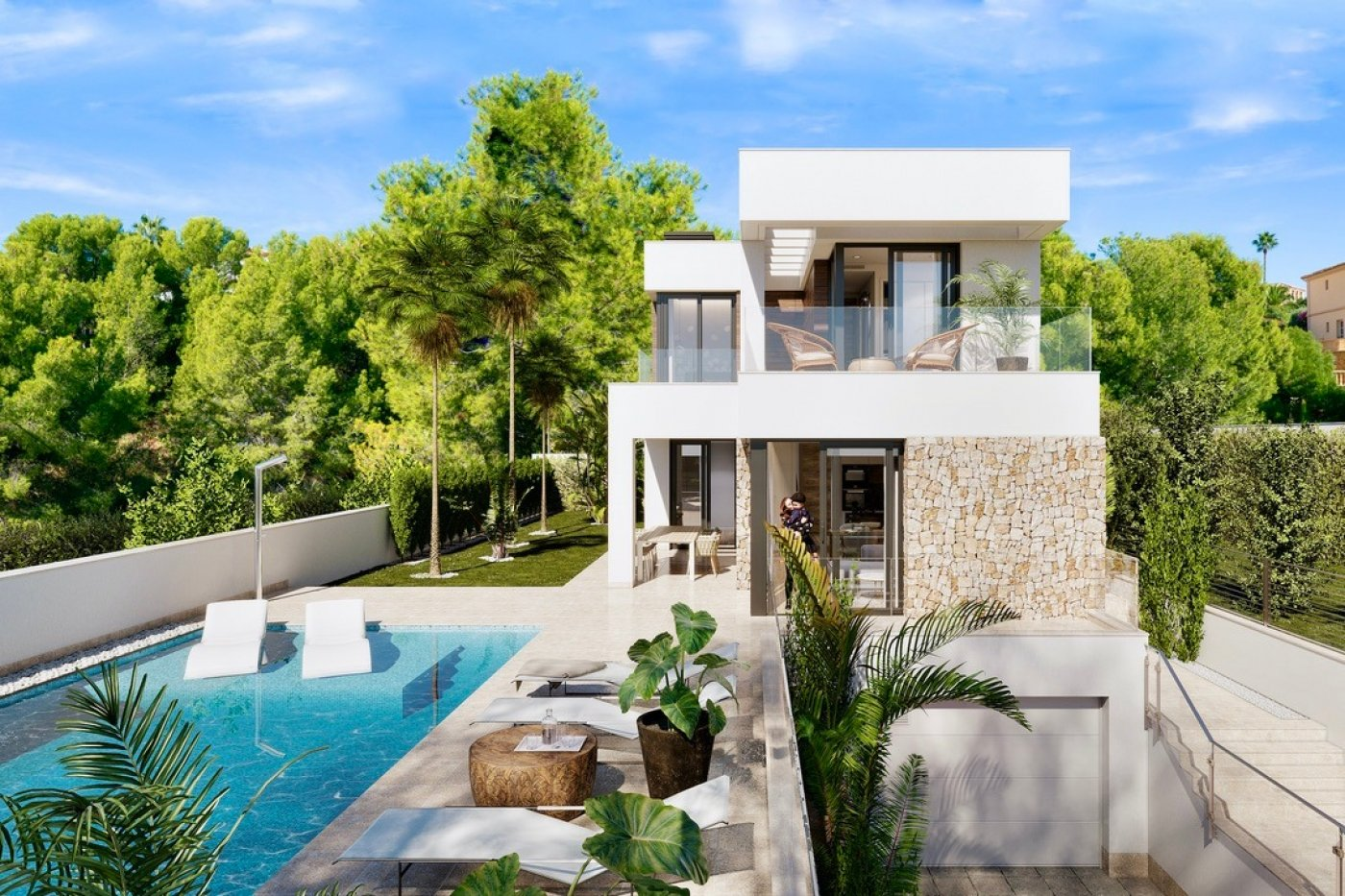 Gallery Image 14 of Large luxury villa in Finestrat with amazin over Benidorm,  3 bath, private pool. Basement