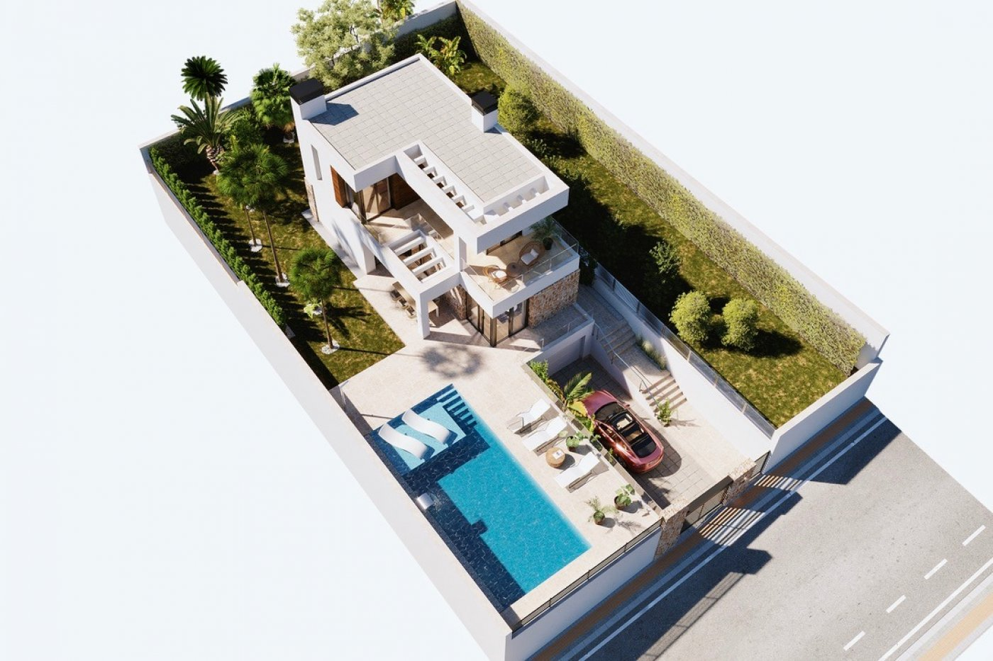 Gallery Image 15 of Large luxury villa in Finestrat with amazin over Benidorm,  3 bath, private pool. Basement