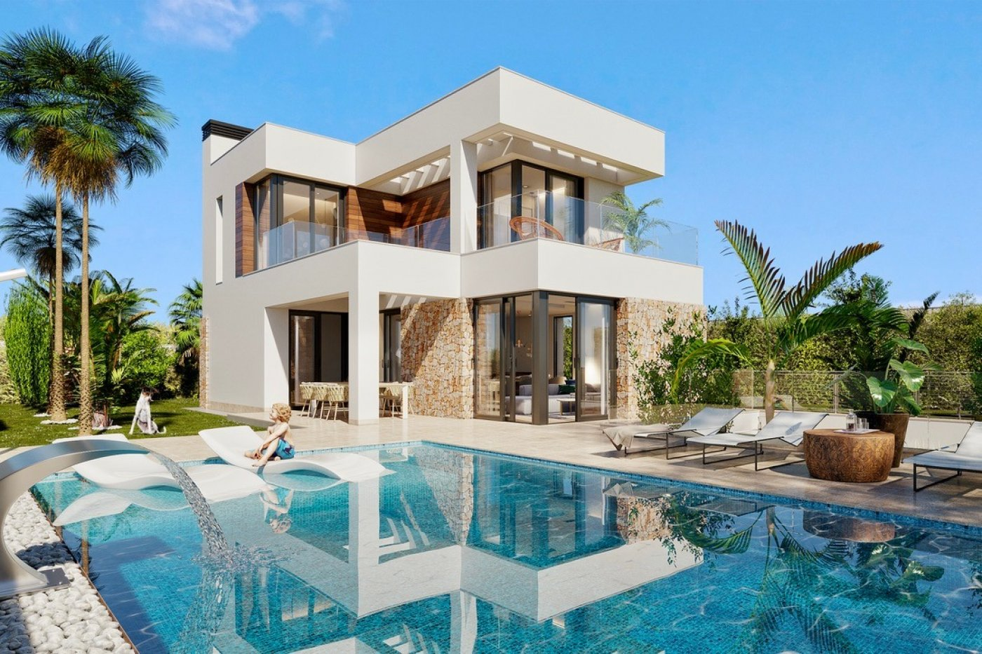 Gallery Image 1 of Large luxury villa in Finestrat with amazin over Benidorm,  3 bath, private pool. Basement