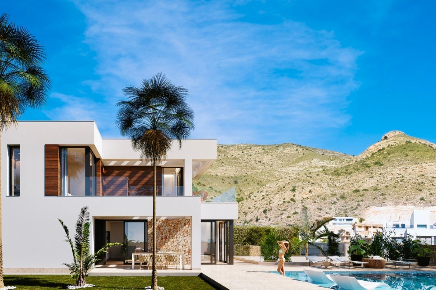 Gallery Image 2 of Large luxury villa in Finestrat with amazin over Benidorm,  3 bath, private pool. Basement