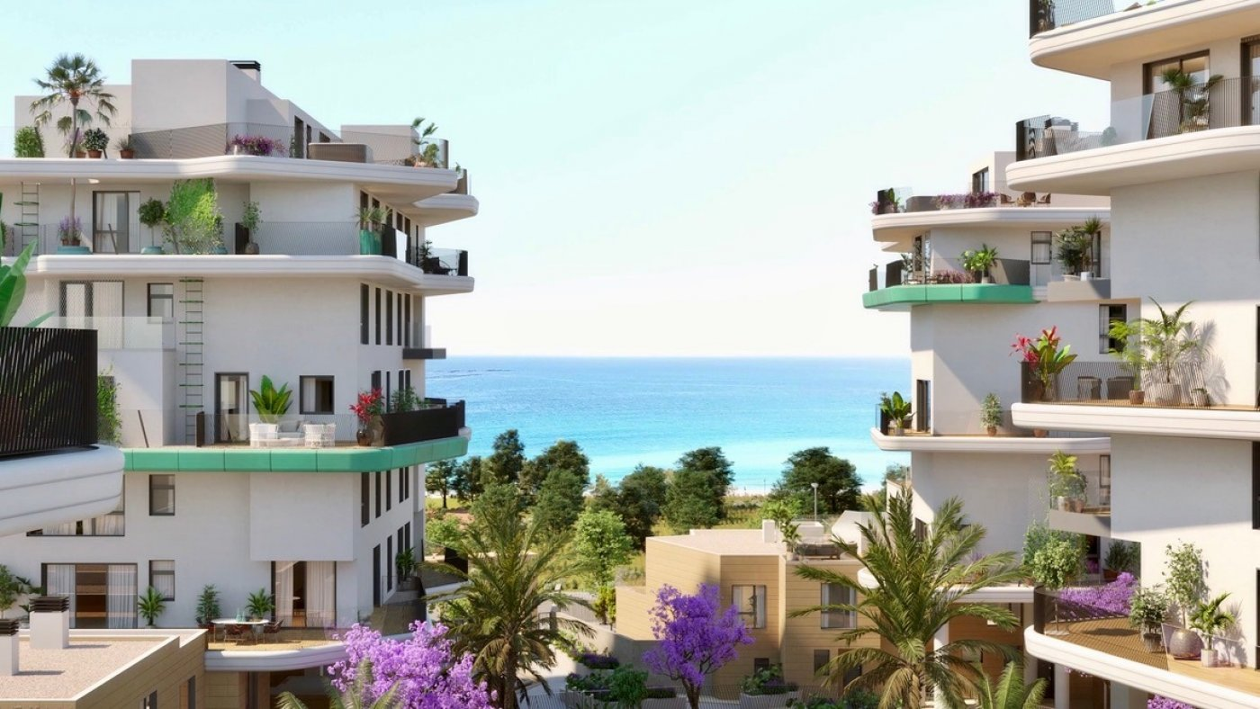 Galleribillede 8 of Kæmpe terrasse, havudsigt, 75 m fra stranden - 4 vær luksus lejlighed