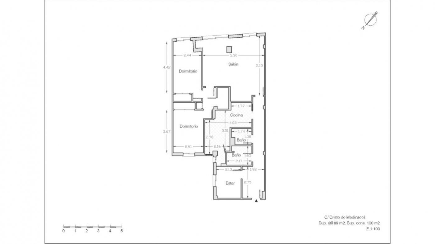 Magnífico piso en zona de recogidas, espacioso y luminoso en planta alta. - imagenInmueble5